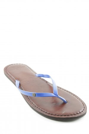Abercrombie & Fitch Flip-Flop Sandals brown-blue casual look