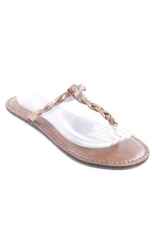 Abercrombie & Fitch Flip Flop Sandalen graubraun Beach-Look