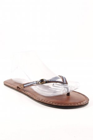 Abercrombie & Fitch Flip-Flop Sandals striped pattern athletic style