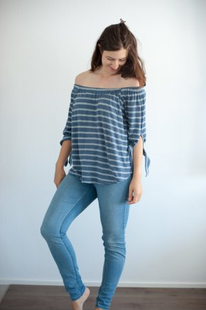 Abercrombie & Fitch gestreift Top Shirt blau weiß