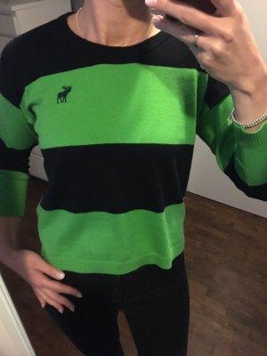 Abercrombie & Fitch Jersey de cuello redondo verde-negro