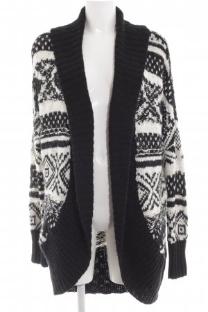 Abercrombie & Fitch Coarse Knitted Jacket black-white abstract pattern