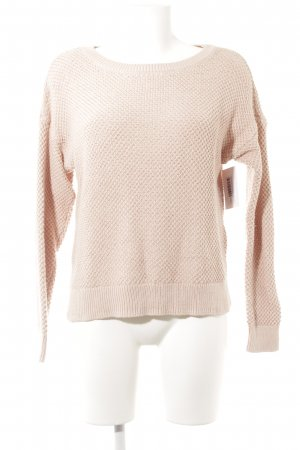 Abercrombie & Fitch Jersey de punto grueso rosa empolvado Patrón de tejido