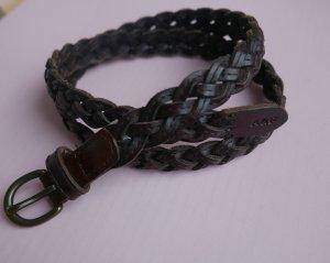 Abercrombie & Fitch Braided Belt dark brown