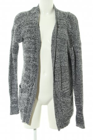 Abercrombie & Fitch Cárdigan de ganchillo gris claro-blanco moteado look casual