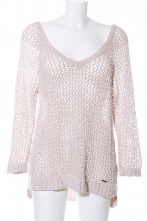 Abercrombie & Fitch Crochet Sweater natural white casual look