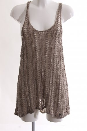 Abercrombie & Fitch Crochet Top bronze-colored cable stitch casual look