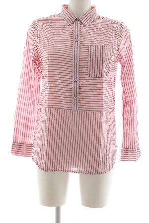 Abercrombie & Fitch Hemd-Bluse rot-weiß Streifenmuster Casual-Look