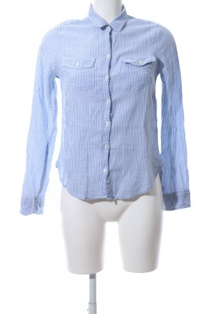 Abercrombie & Fitch Camicia blusa blu-bianco motivo a righe stile professionale