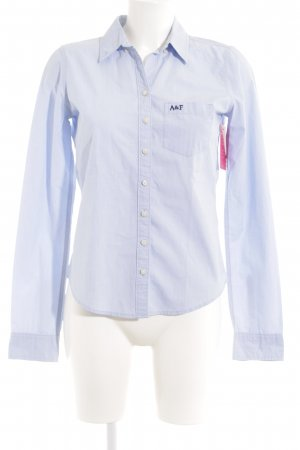 Abercrombie & Fitch Hemd-Bluse babyblau Casual-Look