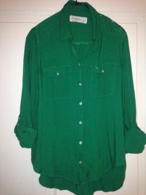 Abercrombie & Fitch Hemd/ Bluse, grün
