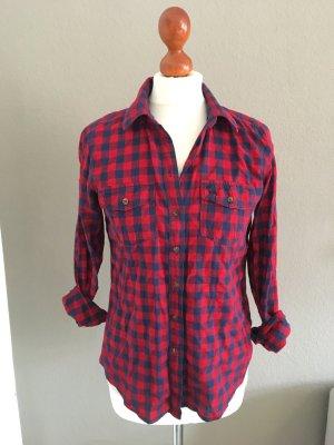Abercrombie & Fitch Hemd Bluse Grunge rot blau M