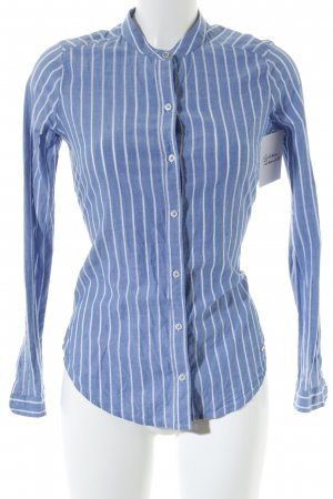 Abercrombie & Fitch Hemd-Bluse himmelblau-weiß Streifenmuster Casual-Look
