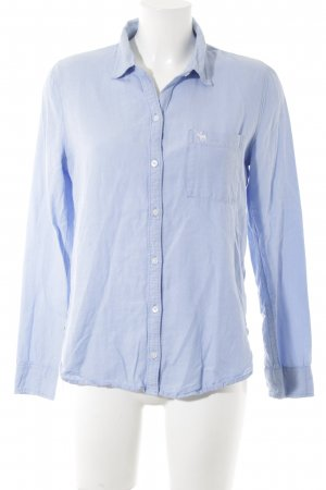 Abercrombie & Fitch Shirt Blouse azure zigzag pattern casual look