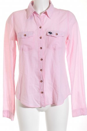 Abercrombie & Fitch Hemd-Bluse rosa-weiß Karomuster Casual-Look