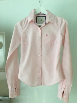 Abercrombie & Fitch Hemd Bluse, XS, Baumwolle, rosa