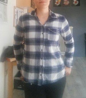 Abercrombie & Fitch Hemd Gr. L dunkelblau/weiss