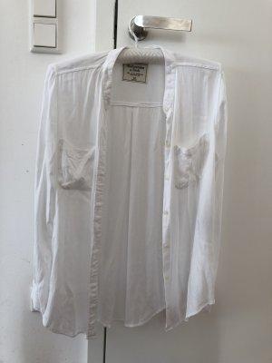 Abercrombie & Fitch Shirt met lange mouwen wit