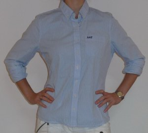 Abercrombie & Fitch Hemdbluse blau weiß streift, einmal getragen, Gr.M