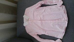 Abercrombie & Fitch Hemdbluse rosa weiß gestreift Gr.M