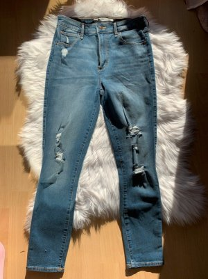 Abercrombie & Fitch High Waist Ankle Jeans