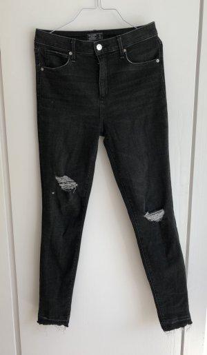 Abercrombie & Fitch High weist Jeans Skinny 27 schwarz neu