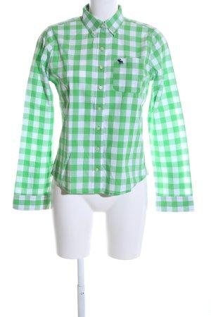 Abercrombie & Fitch Chemise de bûcheron vert-blanc imprimé allover