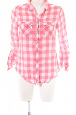 Abercrombie & Fitch Lumberjack Shirt pink-white check pattern casual look