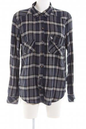 Abercrombie & Fitch Lumberjack Shirt black-light grey allover print casual look