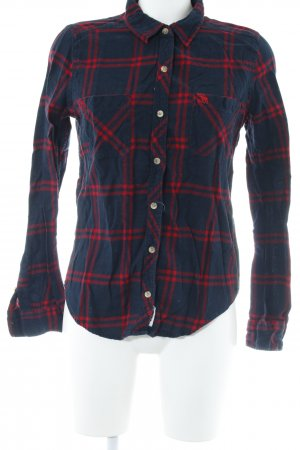 Abercrombie & Fitch Houthakkershemd donkerblauw-rood geruite print