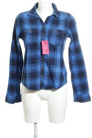 Abercrombie & Fitch Holzfällerhemd neonblau-dunkelblau Karomuster