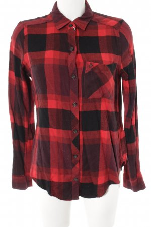 Abercrombie & Fitch Lumberjack Shirt black-dark red check pattern casual look