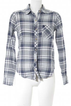 Abercrombie & Fitch Lumberjack Shirt white-blue check pattern casual look