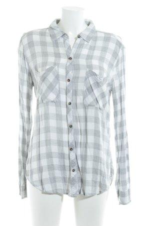 Abercrombie & Fitch Houthakkershemd wit-lichtgrijs geruite print boyfriend stijl
