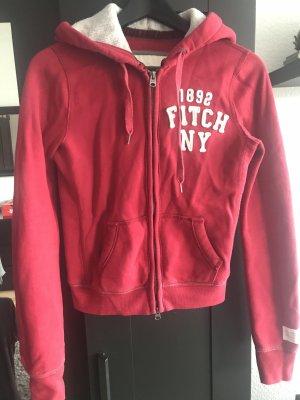 Abercrombie & Fitch Jersey con capucha rojo oscuro-rojo ladrillo Lana