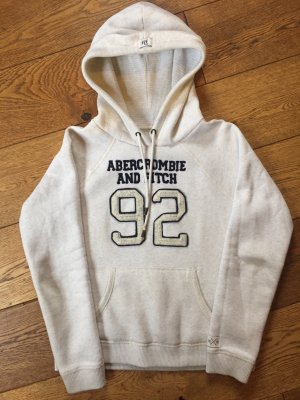 innovatives Design 72d59 9b03e Abercrombie & Fitch Hooded Sweatshirt natural white