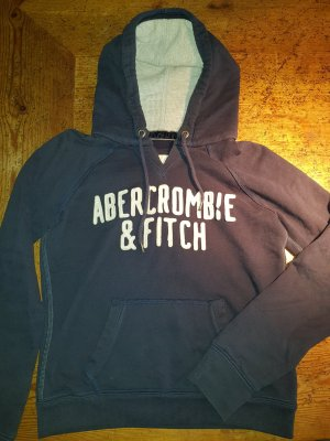 Abercrombie & Fitch Jersey con capucha azul oscuro