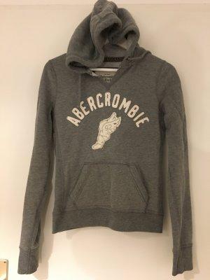 Abercrombie & Fitch Sweat à capuche argenté-blanc coton