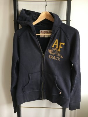 Abercrombie & Fitch Hooded Sweatshirt dark blue-yellow
