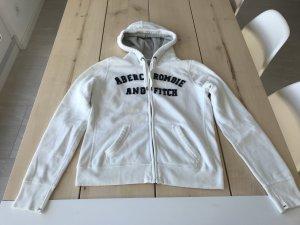 Abercrombie & Fitch Hoodie Sweatshirt Kaputzenjacke Weiß Gr. L