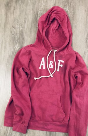 Abercrombie & Fitch Hoody pink/ weiß
