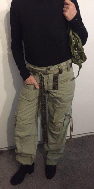 Abercrombie & Fitch Pantalon cargo gris vert