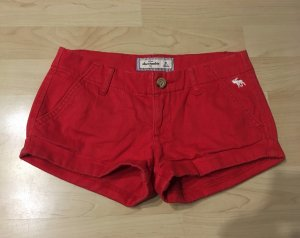 Abercrombie & Fitch Hot Pants red