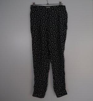 Abercrombie & Fitch Jersey Pants white-black viscose