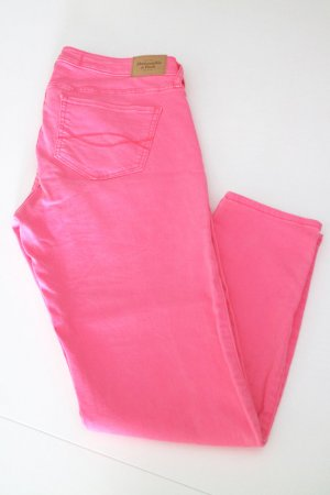 Abercrombie & Fitch Hose W30 neonpink