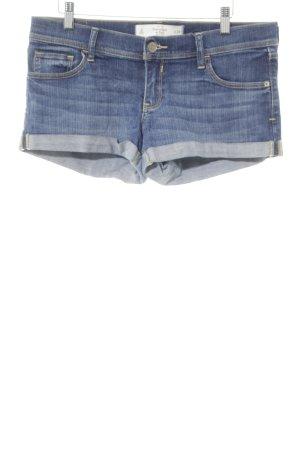 Abercrombie & Fitch Hot Pants blau Washed-Optik