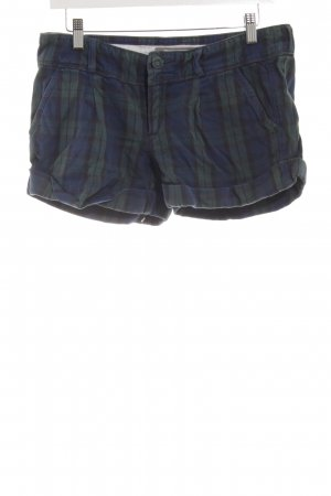 Abercrombie & Fitch Hot Pants dunkelblau-dunkelgrün Karomuster Casual-Look