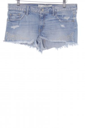 Abercrombie & Fitch Hot Pants himmelblau florales Muster Casual-Look