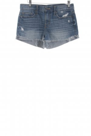 Abercrombie & Fitch Hot Pants stahlblau Casual-Look