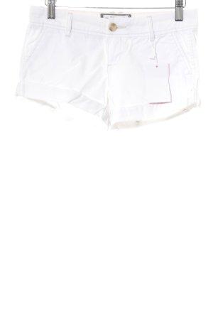Abercrombie & Fitch Short moulant blanc style décontracté